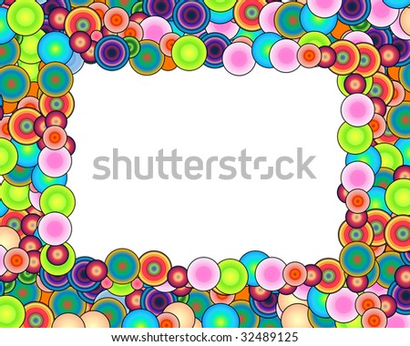 Bubble Rainbow Frame - stock photo