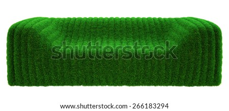 bubble sofa of the grass on a white background - stock photo