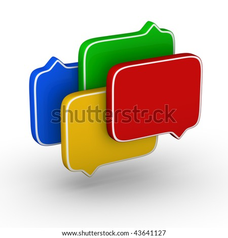 bubble speech (colorful symbol set)