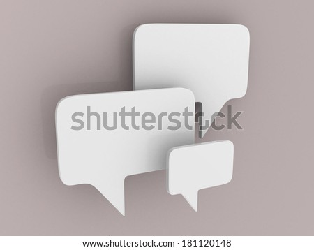 bubble talk -this is 3d illustration - stock photo
