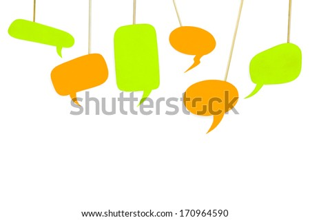 Bubble with space for text - stock photo