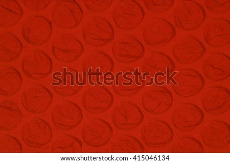 Bubble Wrap Background - Back lit with Dark Red