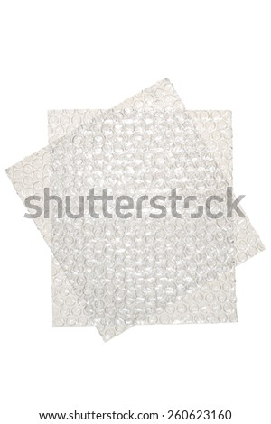 Bubble Wrap Squares - stock photo