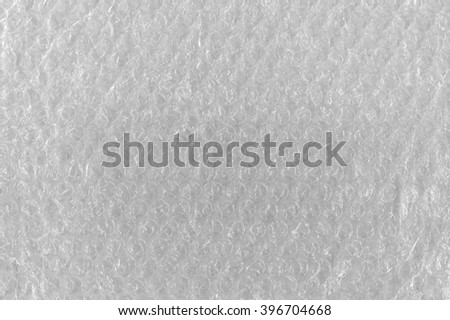Bubble Wrap Texture Abstract Background, Detailed Textured Horizontal Macro Closeup, Bright White Pattern clear plastic air bubbles bubblewrap packaging wrapper material - stock photo