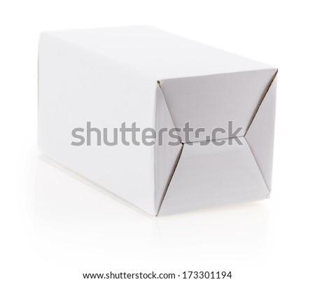 Bubble Wrap white box isolated on white background
