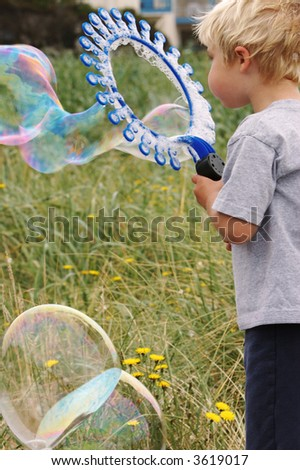 Bubbles at the beach - stock photo
