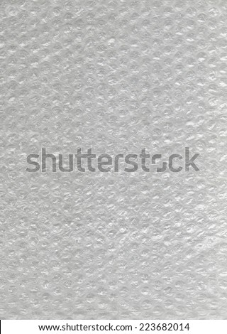 Bubbles wrap. Plastic material for packaging, postage and store. - stock photo