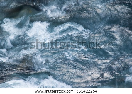Bubbling stream of water - stock photo