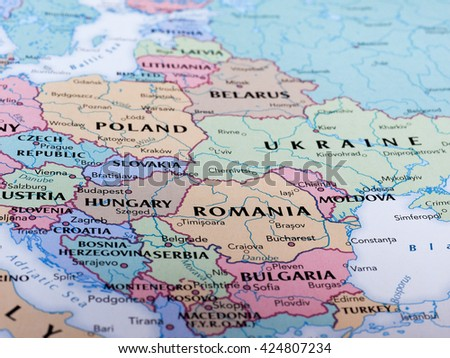 Romania map stock images royalty free images vectors shutterstock bucharest romania circa may 2016 map of romania with selective focus on name gumiabroncs Choice Image