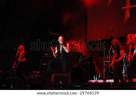 BUCHAREST, ROMANIA - JULY 11 : Primal Fear performs at B'ESTFEST Aftershock July 11, 2008 in Bucharest.