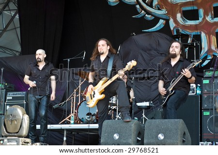BUCHAREST, ROMANIA - JULY 11 : Thunderstorm performs at B'ESTFEST Aftershock July 11, 2008 in Bucharest.