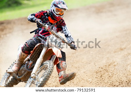 BUCHAREST, ROMANIA - MAY 14: Unidentified riders participates in the Third National Endurocross Championship on May 14, 2011 at Ciolpani in Bucharest, Romania - stock photo