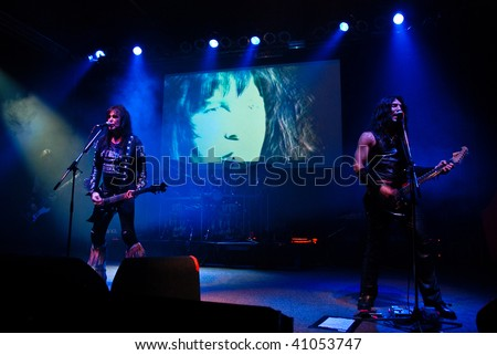 BUCHAREST, ROMANIA - NOV 16 : W.A.S.P. performs at Arenele Romane November 16, 2009 in Bucharest.