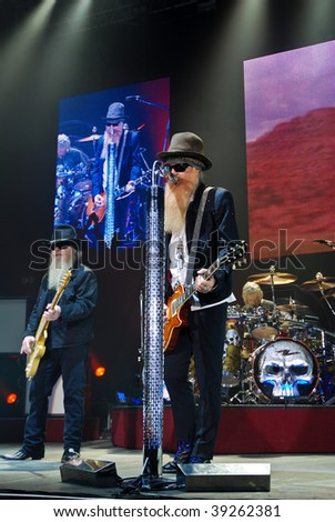 BUCHAREST, ROMANIA - OCT 20 : ZZ Top performs at Sala Polivalenta October 20, 2009 in Bucharest.
