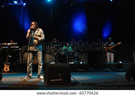 BUCHAREST, ROMANIA - SEP 10 : The Wailers perform at Arenele Romane September 10, 2010 in Bucharest.