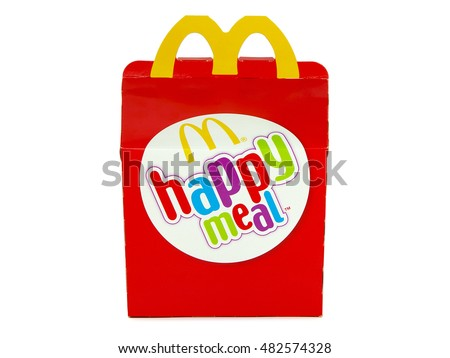 BUCHAREST, ROMANIA - SEPTEMBER 9, 2016. McDonaldâ??s Happy Meal Pack. McDonald's is the world's largest chain of fast food restaurants, serving around 68 million customers daily.
