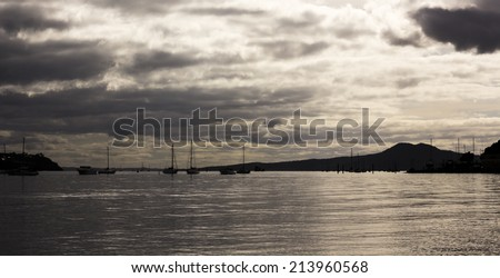 Bucklands Beach Auckland sunrise - stock photo
