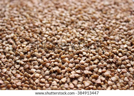 Buckwheat grain, background