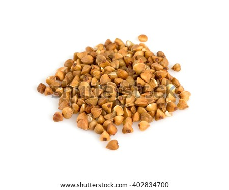 buckwheat isolated on white - stock photo