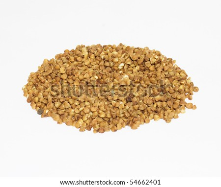 buckwheat on isolated background