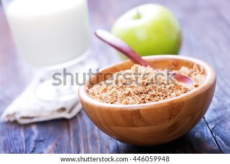 Buckwheat porridge in a bowl - stock photo