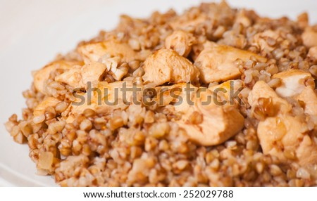 Buckwheat porridge with meat