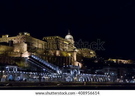 Buda Castle or Royal Palace in Budapest, Hungary - stock photo