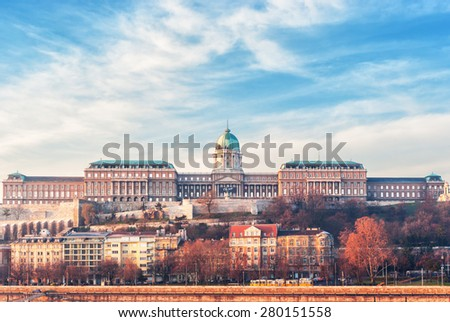 Buda palace in Budapest, Hungary. - stock photo