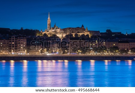 Budapest and the Fishermen's Bastion at night