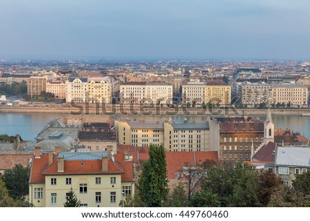 Budapest downtown cityscape with Danube river, Hungary