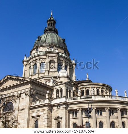 Budapest, Hungary. Architectural detail of the Basilica of St. Stephen
