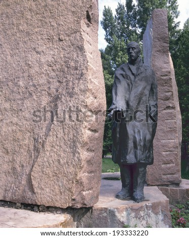 BUDAPEST,HUNGARY- JULY 3, 2008; Statue by Imre Varga of Raoul Wallenberg, the Swedish diplomat who saved many Jewish lives, erected in the year 1987.  - stock photo