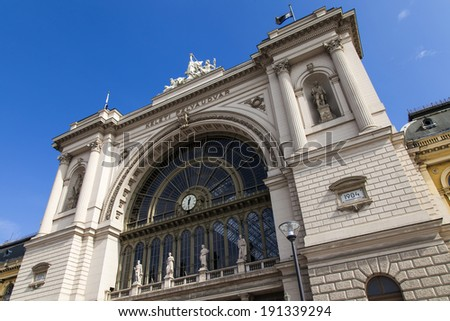 Budapest, Hungary. Keleti Train Station , architectural details