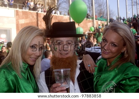 BUDAPEST, HUNGARY - MARCH 17 : St. Patrick Day at March 17, 2012 in Budapest, Hungary. The Irish community in Budapest had a festival to celebrate their saint, St. Patrick. - stock photo