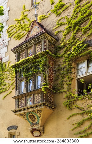 BUDAPEST HUNGARY - MAY 10 2014: Vajdahunyad castle in Budapest. It was built between 1896 and 1908. Today it houses the Agricultural Museum of Hungary, the biggest agricultural museum in Europe. - stock photo