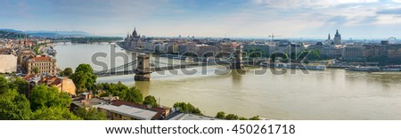 Budapest panorama city skyline - stock photo