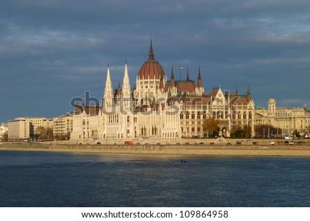 Budapest Parliament 03 - stock photo