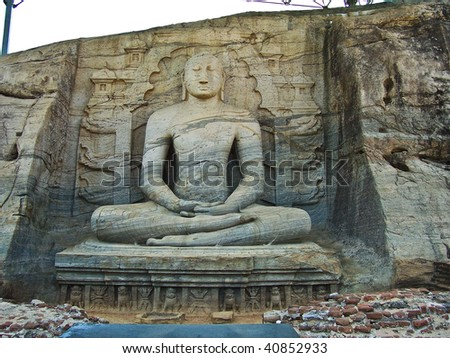 buddah in Gal Vihara in the ancient capital Polonnaruwa, Sri Lanka