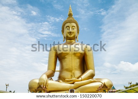 buddah in Thai temple for worship