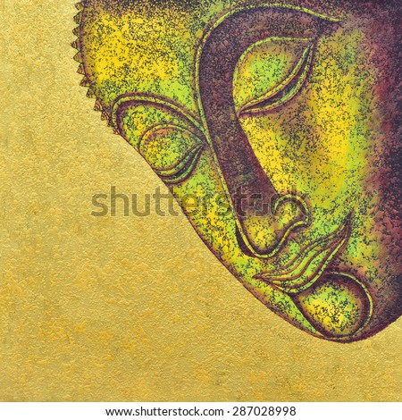 buddha acrylic painting on canvas