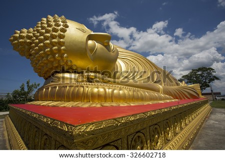 Buddha and sky - stock photo