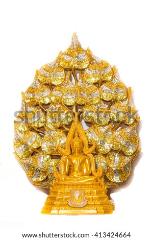 Buddha Bodhi golden Background