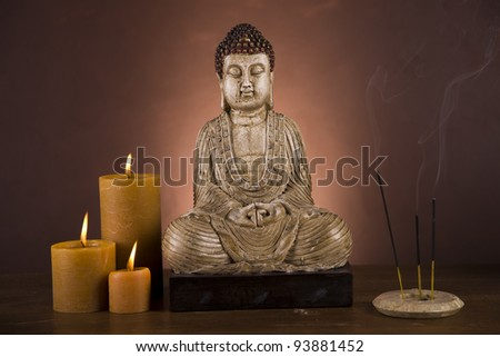 Buddha, candles and relax time