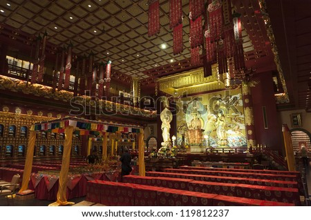 Buddha Chinese Buddha Tooth Relic Temple,Singapore