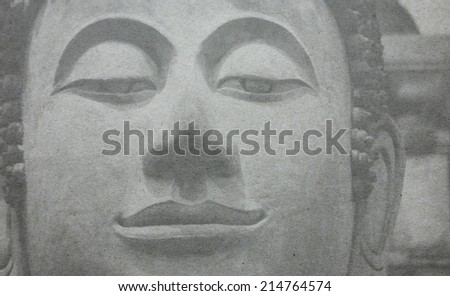 Buddha Face on paper