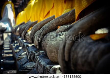 Buddha hand - stock photo
