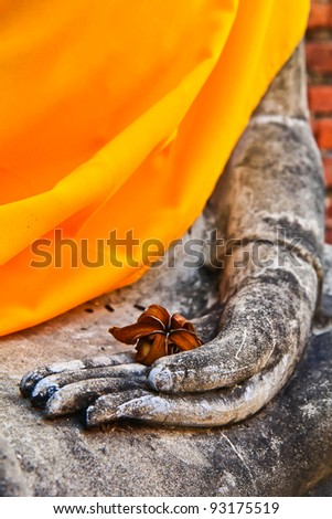 buddha hand buddhism - stock photo