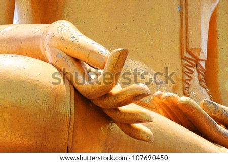 Buddha hands. - stock photo