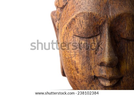 Buddha head, Buddha isolated - stock photo