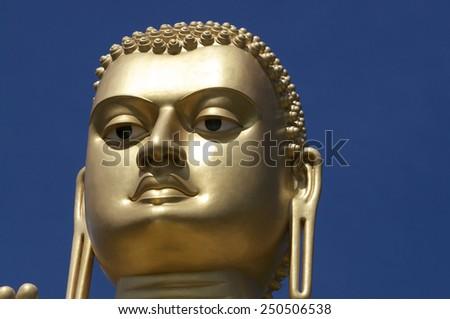 Buddha head. Dambulla. Sri Lanka - stock photo